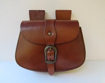 Belt Bag Early American Possibles Shooters Leather Bag  Reenactors Black Powder 25