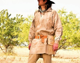 18th Century Frontier Pullover Hunting Shirt  Black Powder REENACTMENT Regalia Time Period Clothing Fur Trade