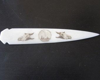 BUFFALO SKULLS Spearheads Spear Point Arrowheads Letter Opener Tribal  Carved Buffalo Bone Craft Making
