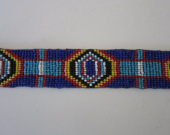 Glass Beaded Strip 10 x 1.25  Tribal Regalia Beadwork Craft S2