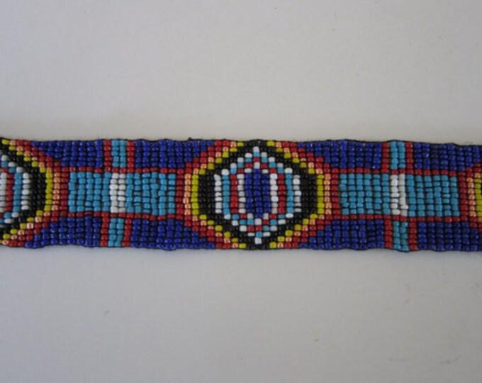 Glass Beaded Strip 3 sizes  Tribal Regalia Bead Work Leather Craft S2