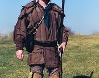 Frontier Rifleman Hunting Frock Linen Shirt Rendezvous Black Powder Reenactment