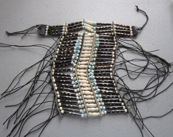 Turquoise & Brown Buffalo Bone Breastplate Choker Geronimo Regalia Pow Wow Native Inspired