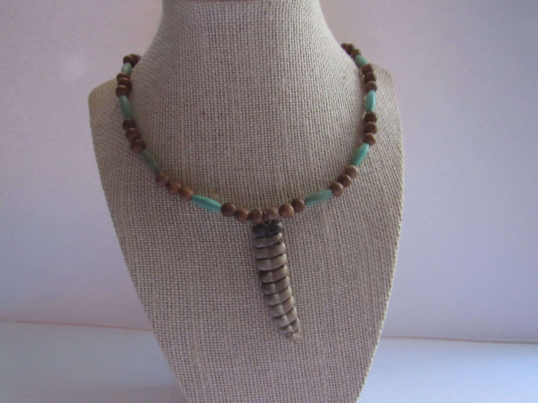 Rattlesnake Rattle Jasper Gemstone Pendant Necklace Jewelry Spirit