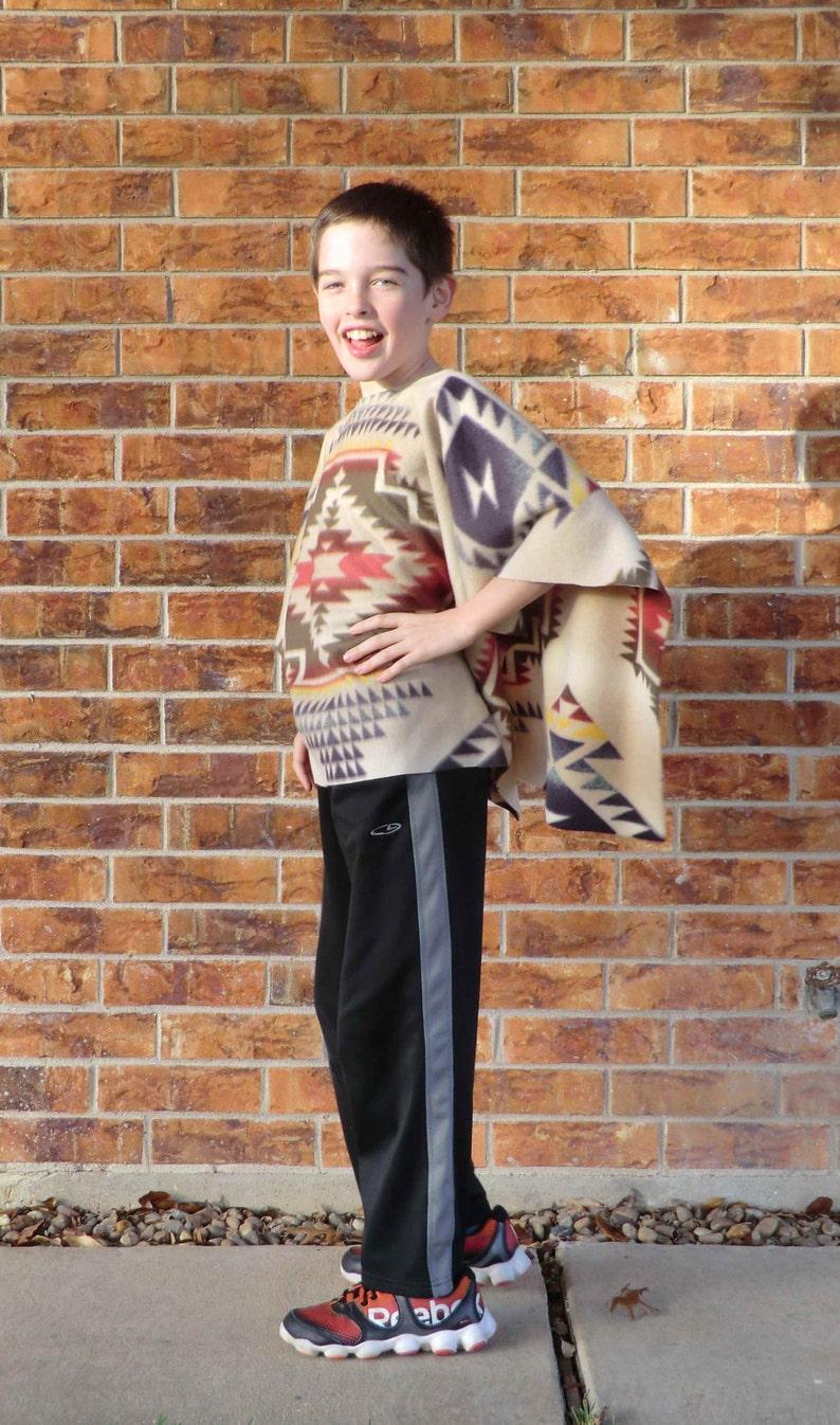 Daryl Dixon Style Poncho    Kids Size