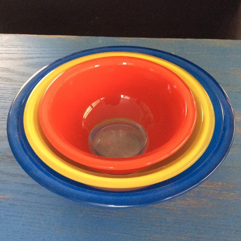 Blue Pyrex Retro Pyrex Primer colors Red Pyrex Primary Pyrex Yellow Pyrex Vintage Pyrex Bowls Vintage pyrex set Pyrex bowls