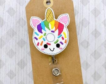 Zebra Donut Badge Reel-Sprinkle Donut Badge Reel-Rainbow Badge Reel-Nurse Badge Reel-Teacher Badge Reel-Retractable ID Badge Holder