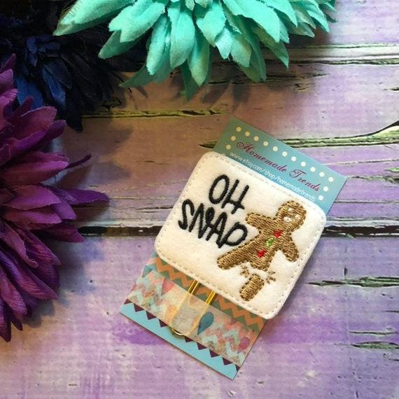 filofax motivate I can /& will planner felt paper clip Embroidery bookmark