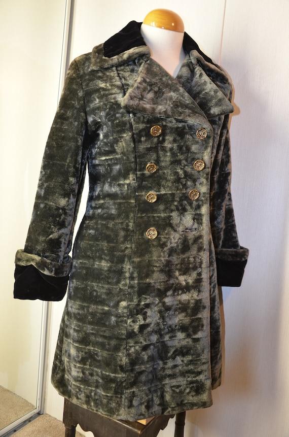 1960s Vintage Velvet Princess Coat Gothic Mod Go G