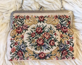 50s/60s Needlepoint Tapestry Bag