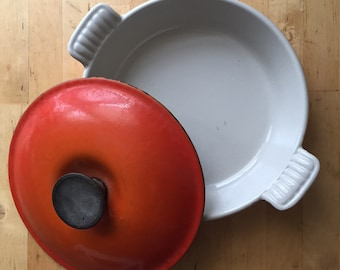 Vintage Le Creuset & Cousances Enameled Cast Iron Cookware