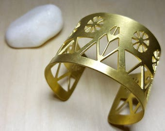 Greek Jewelry, Ancient Greek Jewelry, Greek Cuff Bracelet, Statement Cuff, Wide Cuff Bracelet, Cycladic Art, Dovecote, Elina Jewellery