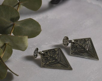 Statement Sterling Silver Earrings ''Dovecotes''