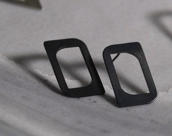 Geometric Sterling Silver 925 Stud Earrings