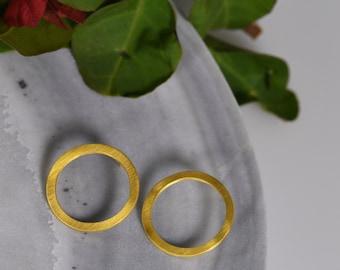 Golden Hoops Earrings