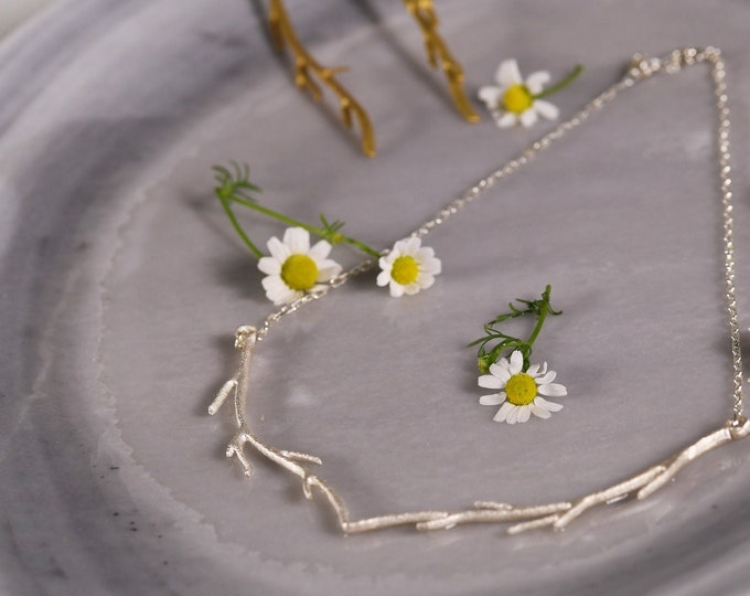 Featured listing image: Twig Necklace Sterling Silver 925