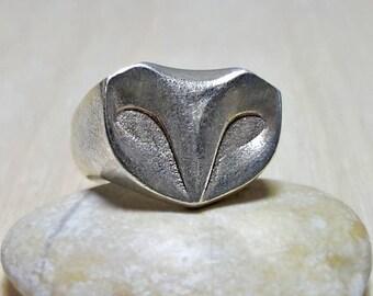 Owl Ring, Signet Ring, Signet Ring Men, Owl Signet ring, Sterling Silver Signet Ring for Men, Signet Ring Women, Chevalier Ring