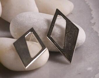 Triangle Sterling Silver 925 Earrings