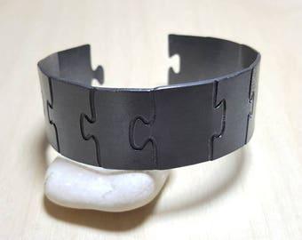 Unisex Bracelet, Mens Cuff Bracelet, Cuff Bracelets for Women, Geometric Bracelet, Puzzle Bracelet, Minimal Design, Elina jewellery