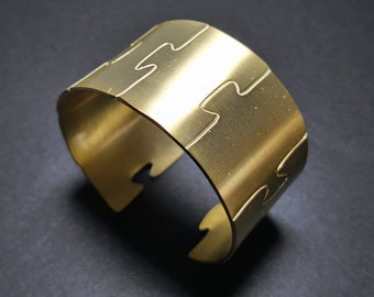 Geometric Bracelet, Wide modern Bracelet for Women, Thick Bangle Bracelet, Modern Bracelet, Adjustable Cuff Bangle, Thick Bracelet for Women