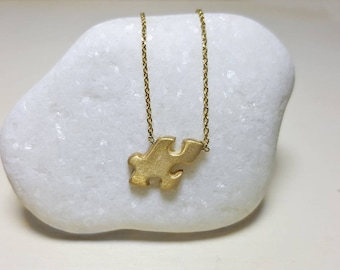 Puzzle Piece Necklace, Silver Minimal Necklace, Dainty Necklace, Autism Mom, Puzzle Piece Jewelry, Aspergers Jewelry, Puzzle Charm, Everyday