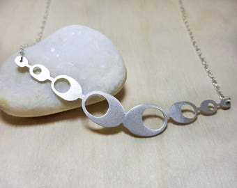 Silver Choker Layered, Sterling Silver Necklace Circle, Dainty Sterling Silver Choker, Silver Choker Necklaces for Women, Silver Necklace