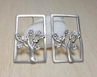 Tree Earrings, Tree of Life Earrings, Spring Earrings, Tree of Life Jewelry Bohemian, Tree Drop Earrings, Blooming Tree, Elina Jewellery