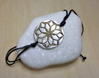 Yoga Bracelet, Floral Bracelet, Spiritual Jewelry, Yoga Bracelet Charm, Spiritual Bracelet, Mandala Bracelet, Lotus Flower Bracelet