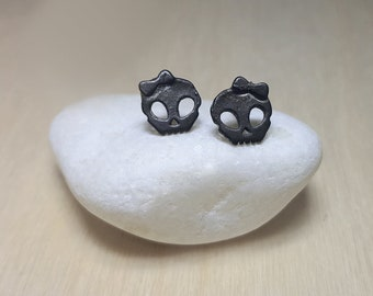 Skull Studs, Skull Jewelry for Women, Skull Jewelry, Skull Stud Earrings, Sugar Skull Jewellery, Sugar Skull Earrings, Dia de los Muertos
