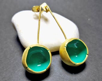 Modern Women Earrings, Unique Earrings, Fashion Earrings, Organic Earrings Dangle, Chunky Earrings, Unique Earrings for Women, Elina Jewelry