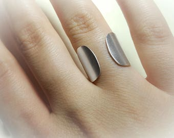 Sterling Silver Ring, Open Ring, Adjustable Thumb Ring, Open Ring Band, Wrap Rings for Women, Adjustable Ring Blank, Rings for Women