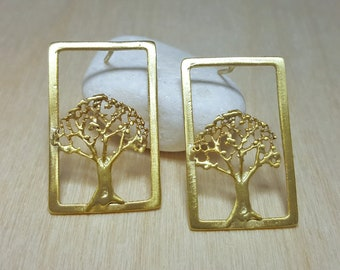 Rustic Earrings, Woodland Earrings, Nature Earrings, Tree of Life Jewellery, Tree of Life Earrings, Rustic Earrings for Women, Tree Earrings