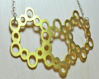 Honeycomb Necklace Sterling Silver 925