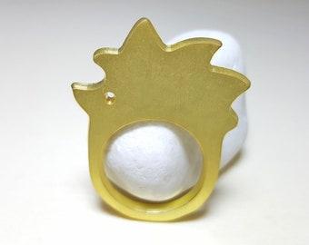 HEDGEHOG ANIMAL RING, Brass Hedgehog Woodland Animal Ring ,Cute Animal Jewelry, Hedgehog Lover Gift, Animal Sterling Silver Ring