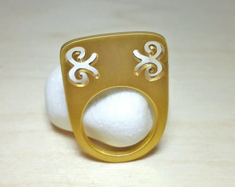 Contemporary Jewelry, Chunky Rings, Bow Ring, Architectural Jewelry, Contemporary Rings, Designer Ring, Tall Ring, Chunky Rings for Women