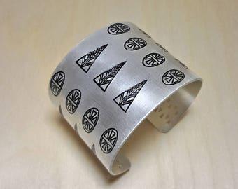 Statement Bracelet, Greek Jewelry Bracelet, Wide Cuff Bracelets for Women, Geometric Bracelets, Greek Jewelry for Women, Greek Cuff Bracelet