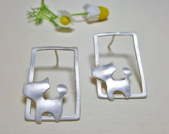 Cat Earrings, Cat Earring Jewelry, Cat Lady Gift, Cat Lover Gift Jewelry, Crazy Cat Lady Gift, Cat Earrings Dangle, Elina Jewellery