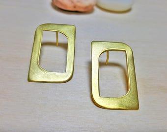 Geometric Stud Earrings, Geometric Earring Set, Gold Geometric Earrings, Statement Earrings Gold, Statement Earrings, Modern Earrings Gold