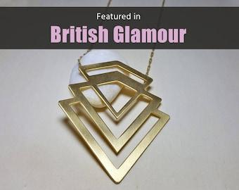 Chevron Necklace, Long Boho Necklace, Chevron Necklace Long, Long Layering Necklace, Long Boho Necklace for Women, Trending Necklaces