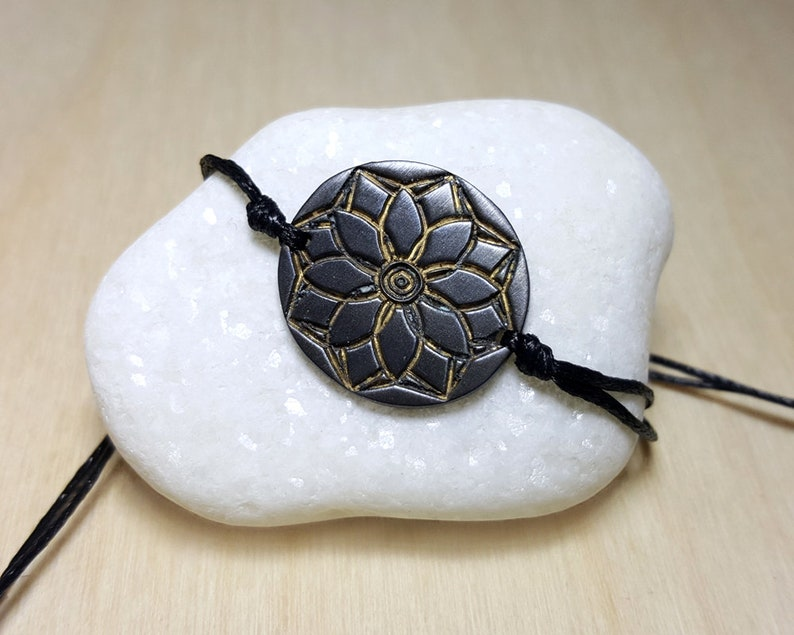 Lotus Flower Bracelet Yoga Bracelet Mandala Bracelet Yoga Bracelet Charm Spiritual Bracelet Spiritual Jewelry Floral Bracelet