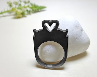 Anniversary Gift for Girlfriend, Love Rings for Women, Unique Rings for Her, Romantic Ring, Girlfriend Birthday Gift, Girlfriend Gift Ideas