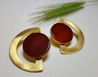 Gemstone Earrings, Big Earrings, Stone Studs, Fashion Earrings Studs, Big Earrings for Women, Stone Stud Earrings, Boho Studs