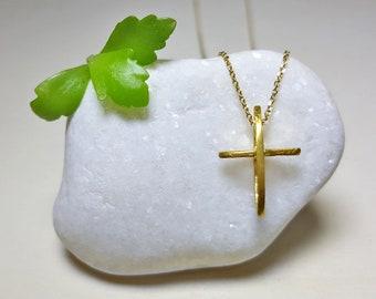 Cross Necklace Gold, Small Cross Necklace, Cross Necklace Sterling Silver, Cross Pendant Necklace, Cross Pendant for Women, Cross Graduation