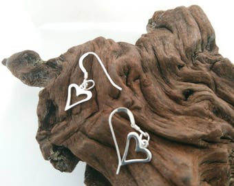 Earrings/Sterling Silver Earrings/Hearts/Women/Gifts/Valentine gift ideas/Anniversary/Mothers Day/Birthday/Bridal/Maid of Honour