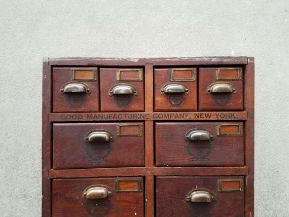50 - Vintage Hardware Store Parts Bin Cabinet Apotrhecary Good Etsy