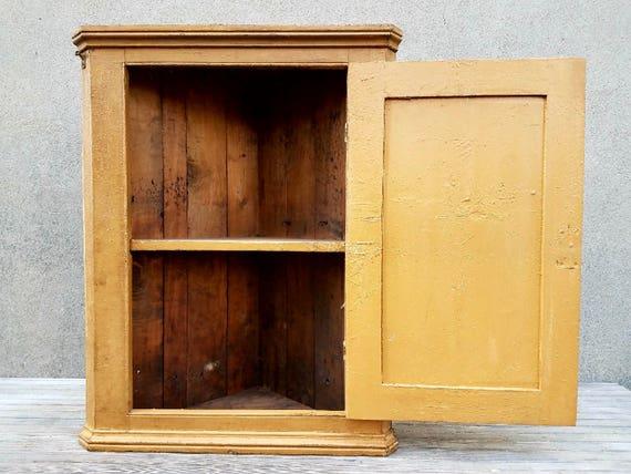 image 0 - Antique 1840 Original Painted Pine Corner Cupboard Or Cabinet Etsy