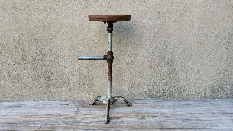 Tremendous Vintage Industrial Shop Made Workstation Stool Chair Uwap Interior Chair Design Uwaporg