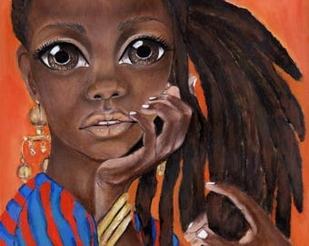 """When You Commin to Get Me?"""" Giclee Limited Edition African Art"""