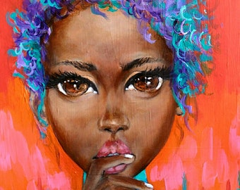 I Decide African American Art by Salkis RE