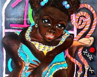 "Let the Games Begin"" Original African Art"